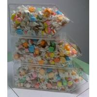 Buy cheap Acrylic Candy Display Cases ,3 Tier Stackable Bins With Scoop Holder from wholesalers