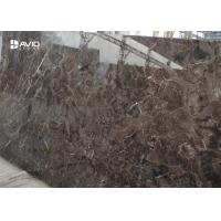 Buy cheap Dark Emperador Natural Stone Slabs For Floor / Toilet / Wall / Table Decor from wholesalers