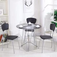 Buy cheap Round Glass Top Dining Room Table from wholesalers