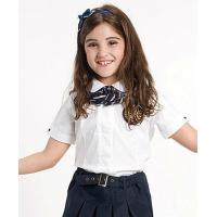 Buy cheap White organic cotton kids primary school uniform with short sleeve from wholesalers