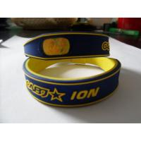 Buy cheap White Silicone Energy Ion Braclets With Customized Size , Wristband from wholesalers
