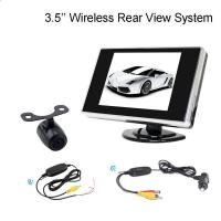 Buy cheap 2.4G Wireless 3.5 Inch LCD dashboard monitor With Reversing Bakcup Camera product