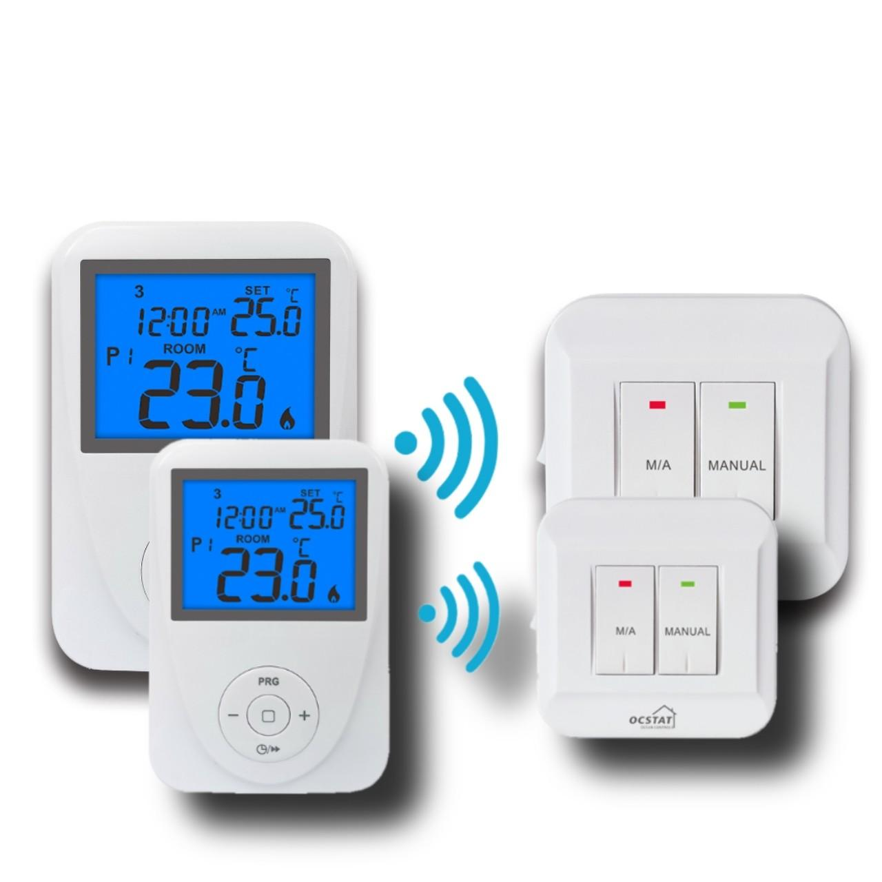 Buy cheap Wireless Remote Sensor Controlled Thermostat / Domestic Programmable Thermostat from wholesalers