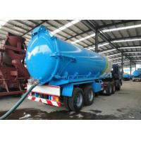 Buy cheap 3 Axles Stainless Steel Oilfield Sewage Vacuum Semi Trailer 22 - 30 CBM from wholesalers