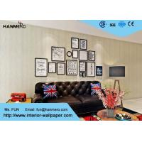 Buy cheap White Nature Modern Bedroom Wallpaper For Sofa Background , Wood Flooring Looking from wholesalers