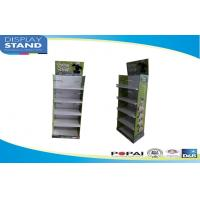 Buy cheap Promotional 5 Shelf Retail Paper Cardboard Floor Display Stand with Acrylic Front from wholesalers