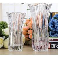 Buy cheap Royal Glass Crystal Transparent Glass Vase Flower Decoration Machine Press from wholesalers