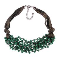 Buy cheap Fashion Accessories Long Handmade Rice Beaded Fabric Necklace from wholesalers
