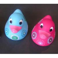 Buy cheap Soft Pad Painting Mini Rubber Ducks Baby ShowerWith Flower Painting / 10cm Length from wholesalers
