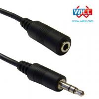 Buy cheap Audio stereo cables with polished 3.5mm connectors,Ideal for connecting portable audio devices from wholesalers