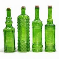 Color spray glass bottles with cork of bathroomsets5 for Colored glass bottles with corks