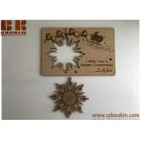 Buy cheap Christmas cards Personalised wooden greeting cards Wood snowflake card Christmas gift from wholesalers