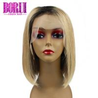Buy cheap Fashion Colored Bob Wigs T1b27#Honey Blonde 13x4 Lace Closure No Tangling from wholesalers