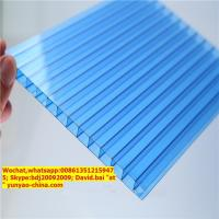 Buy cheap UV protective twin wall polycarbonate hollow sheet from wholesalers