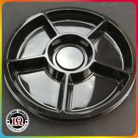 Buy cheap Plastic Round Divided Catering Trays For Party from wholesalers