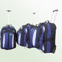 Buy cheap Three-Piece Wheeled Backpack Set with Ball-Bearing Corner Skate Wheels from wholesalers