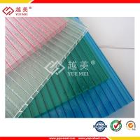Buy cheap transparent plastic hollow twin wall polycarbonate sheet from wholesalers