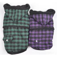 China S M L XL XXL Cute Hoodies Warm Dog Winter Coats with Blue and Purple on sale