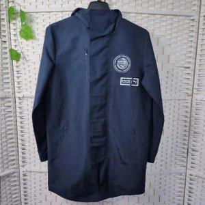 Buy cheap Waterproof Navy Mens Hooded Jackets For Running / Hiking / Biking product