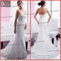 Buy cheap Elegant white Lace Sweetheart Neckline Zip Back Mermaid Wedding Dress Patterns Free from wholesalers