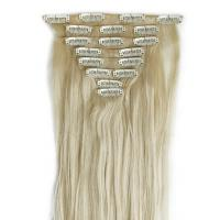 Buy cheap remy brazilian natural straight stainless u shape clip 8 pieces per set clip in human hair extension s from wholesalers
