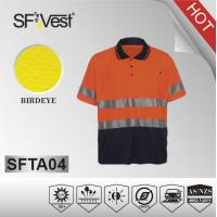 Buy cheap Hi-viz men casual shirt color combination polo shirt with chest pocket from wholesalers