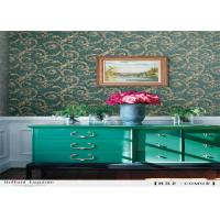 Buy cheap Pvc Vinyl Rustic Floral Wallpaper , Moisture Proof Home Furnishing Wallpaper from wholesalers