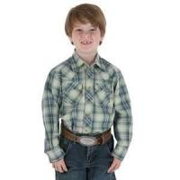 Buy cheap Eco - Friendly 100% cotton printed casual style plaid shirts for kids from wholesalers