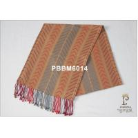 Buy cheap Orange And Grey Striped Woven Silk Scarf For Hair , AZO Free from wholesalers