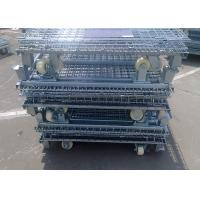 Buy cheap Silvery Cold Steel Foldable Wire Mesh Security Cage For Warehouse Storage from wholesalers