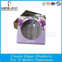 Buy cheap Customized Logo 4C Printed Cosmetic Paper Package Box with Diecut Window from wholesalers