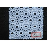 Buy cheap Pure White Cotton Eyelet Crochet Lace Trim Elastic , Embroidery Lace Trim from wholesalers