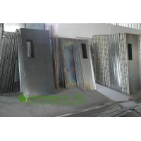 Commercial Steel Entrance Doors : Customized double leaf stainless steel fire rated