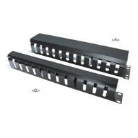 Buy cheap 19 Metal Cable Management Rail 12 Slot,Single-Sided,1U&2U with cover from wholesalers