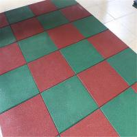 Buy cheap Solid color recycled rubber flooring tile playground outdoor park mat product