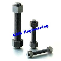 Buy cheap A193 B7 full threaded stud bolt with A194 2H nut black finish from wholesalers