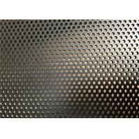 Buy cheap Strong Coated DVA Black Perforated Aluminum Sheet 8KG Weight Flat Surface from wholesalers