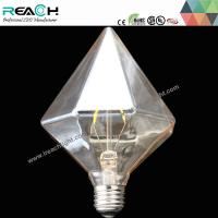 Buy cheap D110 led diamond filament bulb,110*165mm,6filaments,6w,dimmable,amber glass,constant current driver,E27,B22base from wholesalers