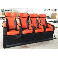 Buy cheap 4 Seat Per Set 4D Movie Theater Cinema Equipment Customize Color Motion Chairs product