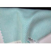 Buy cheap Green Color Blend Cotton Yarn Dyed Fabric With Colorful Pattern Designs from wholesalers