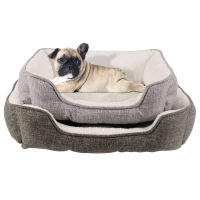 Buy cheap 50*40*13cm Sustainable linen soft plush dog warm beds from wholesalers
