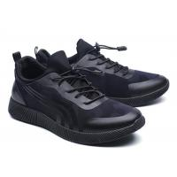 Cool Looking All Black Running Shoes Mens , Supportive Gym Shoes EU 39-46 Size