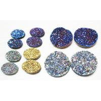 Buy cheap Blue / Gold / Silver Plating Color Round Druzy Agate Jewelry 10mm For Bracelet Ring from wholesalers