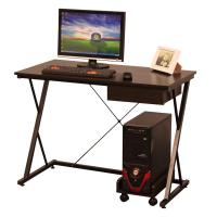 Buy cheap small office wooden computer table design with drawer and CPU stand from wholesalers