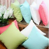 Buy cheap Sofa Solid color dyed cotton cushion,couch decorative knitted summer cooling cushion cover from wholesalers