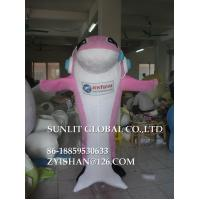 Buy cheap blue and pink dolphin mascot costume/customized fur sea animal mascot costume from wholesalers