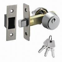 Buy cheap Deadbolt Lock with Single Cylinder, 33 to 55mm Door Thicknesses and 51/60mm Backset from wholesalers