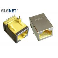 Buy cheap 1x1 Single Port RJ45 Modular Jack Through Hole 90° Angle 6U Gold Plating from wholesalers