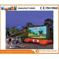 Buy cheap Mickey Mouse Advertising Inflatables / Inflatable Movie Screen Black And Red Projection Cloth from wholesalers