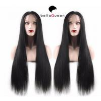 Buy cheap Stock Soft Malaysian Micro Braided Long Straight Full Lace Wigs Human Hair from wholesalers